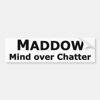 Pegatina para el parachoques de Maddow Pegatina Para Auto
