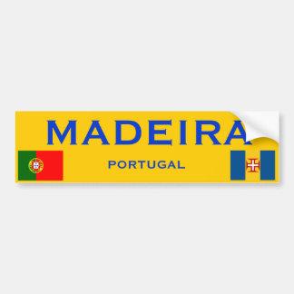 Pegatina para el parachoques de Madeira* Etiqueta De Parachoque
