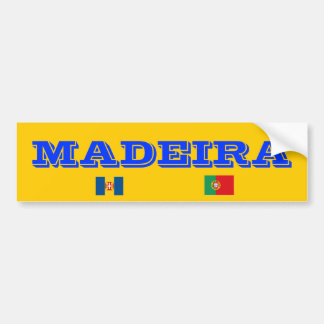 Pegatina para el parachoques de Madeira* Pegatina Para Auto