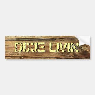 Pegatina para el parachoques de madera de Dixie Li Pegatina Para Auto