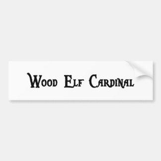 Pegatina para el parachoques de madera del cardena pegatina de parachoque