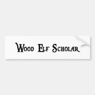 Pegatina para el parachoques de madera del escolar etiqueta de parachoque
