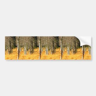 pegatina para el parachoques de maderas del álamo pegatina para auto