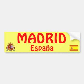 Pegatina para el parachoques de Madrid* Pegatina Para Coche
