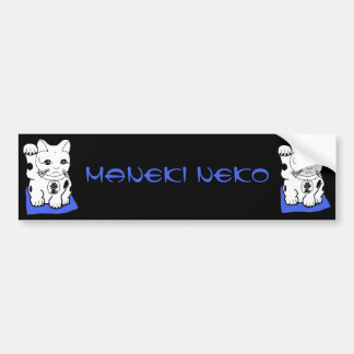 Pegatina para el parachoques de Maneki Neko (gato  Pegatina Para Auto