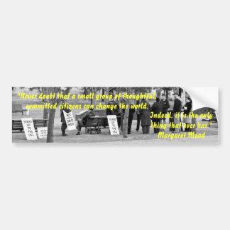 Pegatina para el parachoques de Margaret Mead Pegatina Para Auto