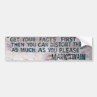 Pegatina para el parachoques de Mark Twain Pegatina Para Auto