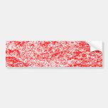 Pegatina para el parachoques de mármol roja y blan etiqueta de parachoque