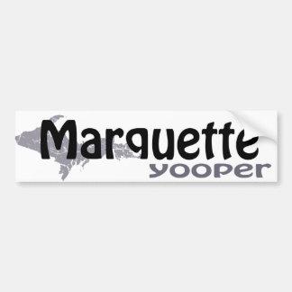 Pegatina para el parachoques de Marquette Michigan Pegatina Para Auto