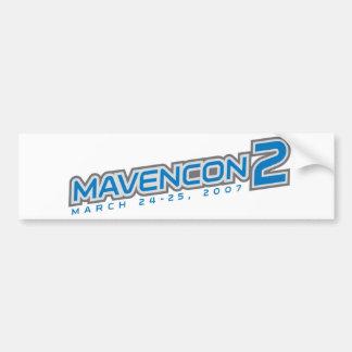 Pegatina para el parachoques de MavenCon 2 Pegatina De Parachoque