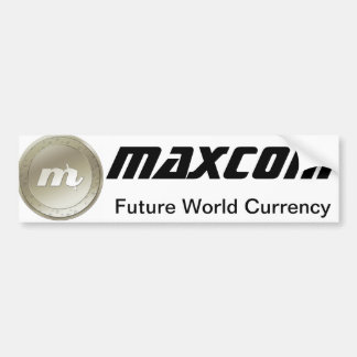 Pegatina para el parachoques de Maxcoin Pegatina Para Auto