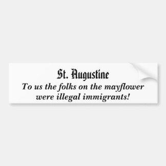 pegatina para el parachoques de mayflower.illegali pegatina para auto
