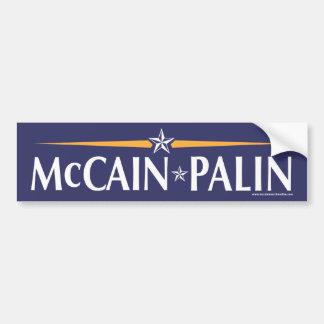 Pegatina para el parachoques de McCain-Palin 08 Etiqueta De Parachoque