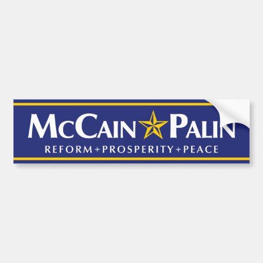 Pegatina para el parachoques de McCain-Palin Pegatina Para Auto