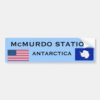 Pegatina para el parachoques de McMurdo la Antárti Etiqueta De Parachoque