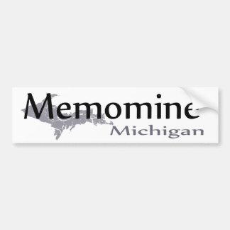 Pegatina para el parachoques de Menomine Michigan Pegatina Para Auto