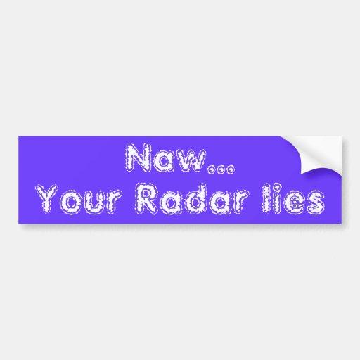 Pegatina para el parachoques de mentira del radar pegatina de parachoque