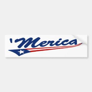 'Pegatina para el parachoques de Merica Swoosh Pegatina Para Auto
