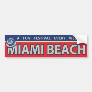 pegatina para el parachoques de Miami Beach del vi Pegatina Para Auto
