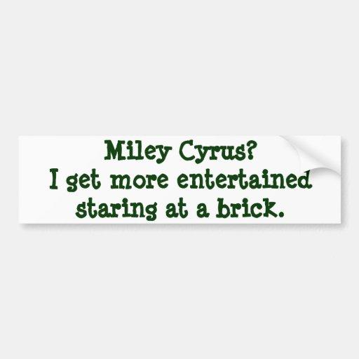Pegatina para el parachoques de Miley Pegatina De Parachoque