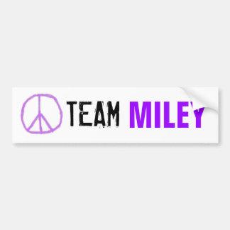 Pegatina para el parachoques de Miley del equipo Pegatina De Parachoque