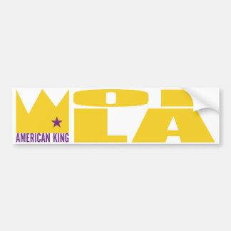 Pegatina para el parachoques de MIMS - rey america Pegatina De Parachoque