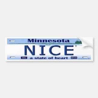 Pegatina para el parachoques de Minnesota Nice® Pegatina Para Auto