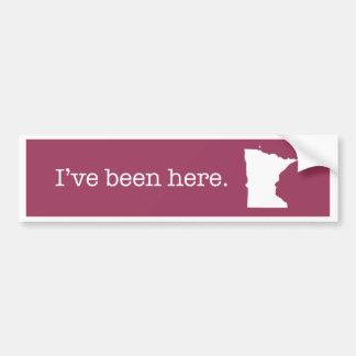 Pegatina para el parachoques de Minnesota Pegatina Para Auto