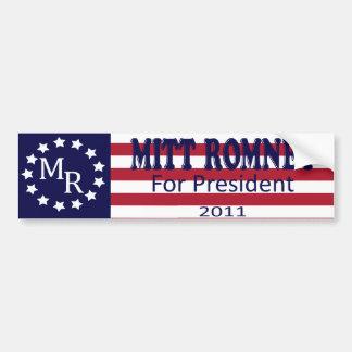 Pegatina para el parachoques de Mitt Romney Etiqueta De Parachoque