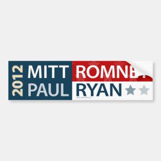 Pegatina para el parachoques de Mitt Romney Paul R Pegatina Para Auto