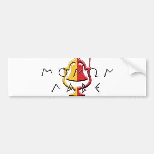 Pegatina para el parachoques de Monon Labe Pegatina Para Auto