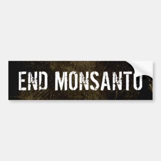 Pegatina para el parachoques de Monsanto del final Etiqueta De Parachoque