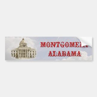 Pegatina para el parachoques de Montgomery Alabama Etiqueta De Parachoque