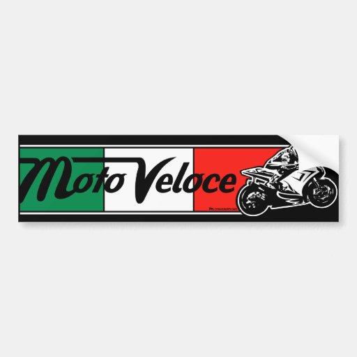 Pegatina para el parachoques de Moto Veloce Pegatina De Parachoque