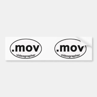 Pegatina para el parachoques de .MOV Videographer Pegatina Para Auto