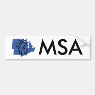 Pegatina para el parachoques de MSA Etiqueta De Parachoque