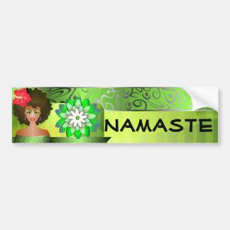 Pegatina para el parachoques de Namaste Etiqueta De Parachoque