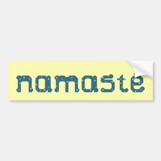 Pegatina para el parachoques de Namaste del trullo Etiqueta De Parachoque