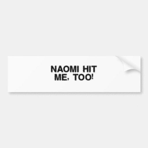 Pegatina para el parachoques de Naomi Pegatina Para Auto