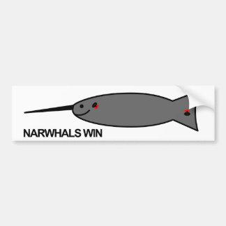 Pegatina para el parachoques de Narwhal Pegatina Para Auto