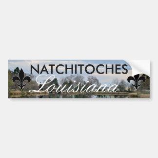Pegatina para el parachoques de Natchitoches Pegatina Para Auto