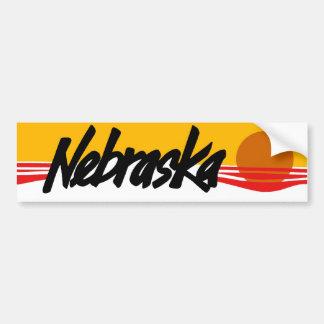 Pegatina para el parachoques de Nebraska del vinta Pegatina Para Auto