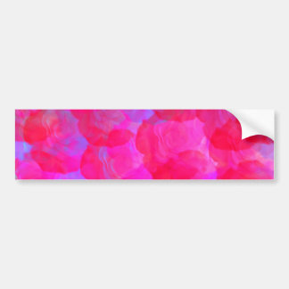 Pegatina para el parachoques de neón de los rosas pegatina de parachoque