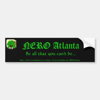 Pegatina para el parachoques de NERO Atlanta Pegatina De Parachoque