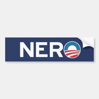 Pegatina para el parachoques de NERO de Obama Pegatina De Parachoque
