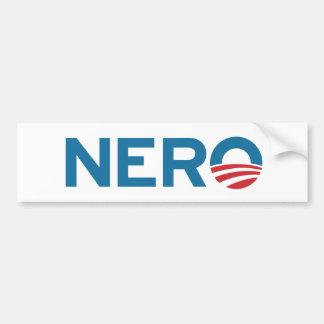 Pegatina para el parachoques de NERO de Obama Etiqueta De Parachoque