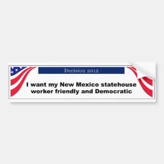 Pegatina para el parachoques de New México Etiqueta De Parachoque