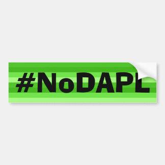Pegatina para el parachoques de NoDAPL Pegatina Para Auto