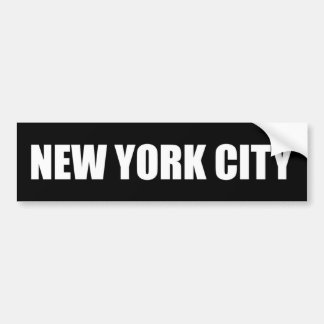 Pegatina para el parachoques de Nueva York Pegatina Para Auto