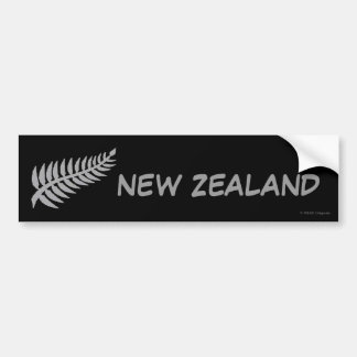 Pegatina para el parachoques de NUEVA ZELANDA Pegatina De Parachoque